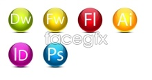 Link toAdobe series round crystal software icons