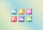 Link toAdobe software icons vector