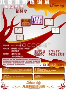 Link toAdvertising creative dance for children training psd poster