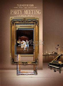 Link toAdvertising photo frame dancing piano city life can be even more beautiful psd