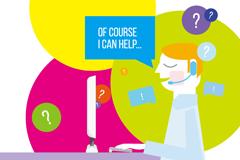 Link toAdvisory customer service cartoon vector illustration