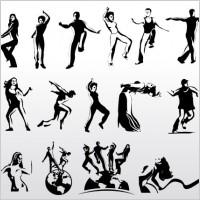 Link toAerobic art dancer vector silhouettes