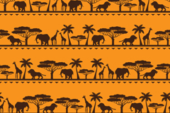 Link toAfrican animal vector seamless background