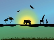 Link toAfrican animals vector free