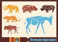 Link toAfrican animals vectors free
