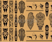 Link toAfrican ethnic background shades of style vector