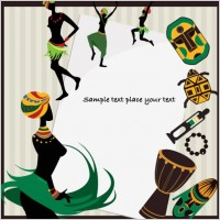 Link toAfrican pattern background 04 vector
