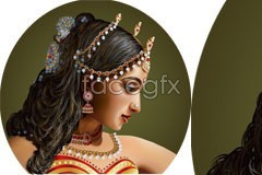 Link tovector beautiful style india format Ai
