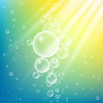 Link toAir bubbles in water background vector