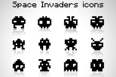Link toAir space intruder 16 pixel icon vector