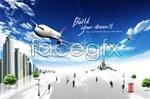 Link toAircraft and creative business psd