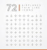 Link toAircraft line icon vector