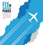 Link toAircraft through the clouds vector
