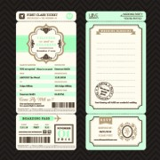 Link toAircraft ticket design vector set 01 free