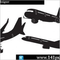 Link toAirplane silhouettes free vector
