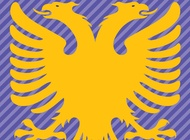 Link toAlbania flag double headed eagle vector free