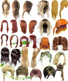 Link toAll kinds of beautiful hair collection psd