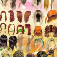 Link toAll kinds of beautiful hair psd