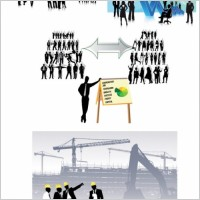 Link toAll kinds of business people silhouette vector