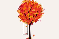 Link toAlone autumn vector illustration