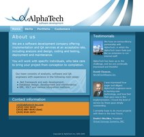 Link toAlphatech inc - site design