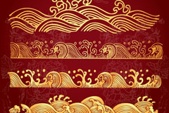 Link toAmber waves pattern design vector