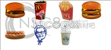 American-style fast food and drink icons