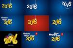 Amount of 2016 numbers arrow vector