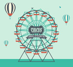 Link toAmusement park ferris wheel illustration vector