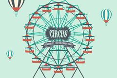 Link toAmusement park ferris wheel vector illustration