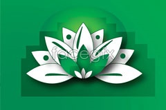 Link tovector pattern lotus abstract An