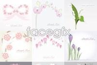Link toAn elegant flowers plant background vector map