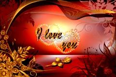 Link toAn exquisite valentine card vector