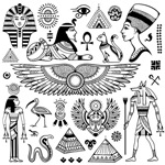 Ancient egypt written symbols vector