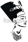 Link toAncient female head vector