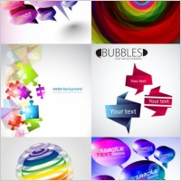 Link toAnd threedimensional shape of the colorful background vector