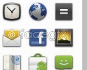 Link toAndroid 2.0 earth letter icon design clock button psd