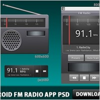 Link toAndroid fm radio application psd