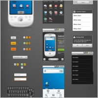Link toAndroid phone gui psd layered