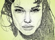 Link toAngelina jolie art vector free