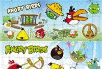 Link toAngry bird cartoon puzzle vector