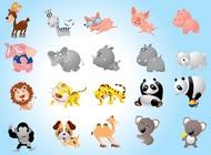 Link toAnimal cartoons pack vector free