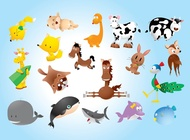Animal comics vector free