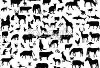 Link toAnimal silhouette collection vector