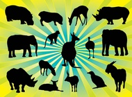 Link toAnimal silhouettes pack vector free