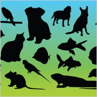 Link toAnimal silhouettes vectors