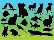 Link toAnimal silhouettes vectors free