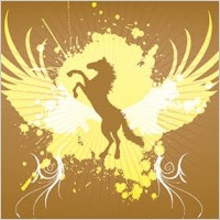Link toAnimals horse wings splatter abstract