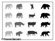 Link toAnimals silhouettes vector free