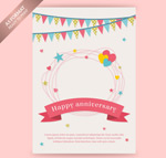 Link toAnniversary greeting cards vector